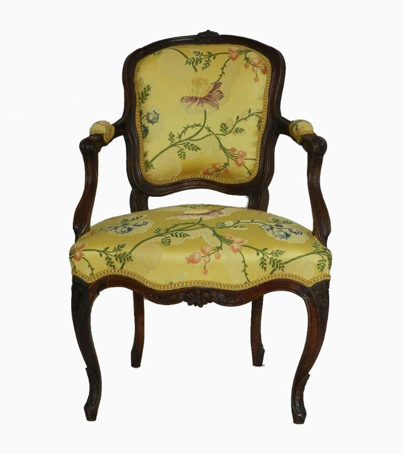 Rare C18 French Louis XV Diminutive Chair Childs open Armchair Epoque