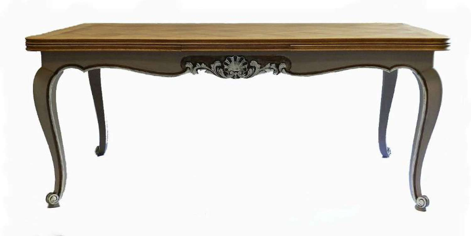 French Dining Table Extending Oak Louis revival