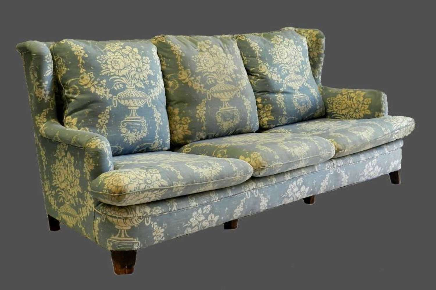 1930s Country House Sofa French 3 seat Settee