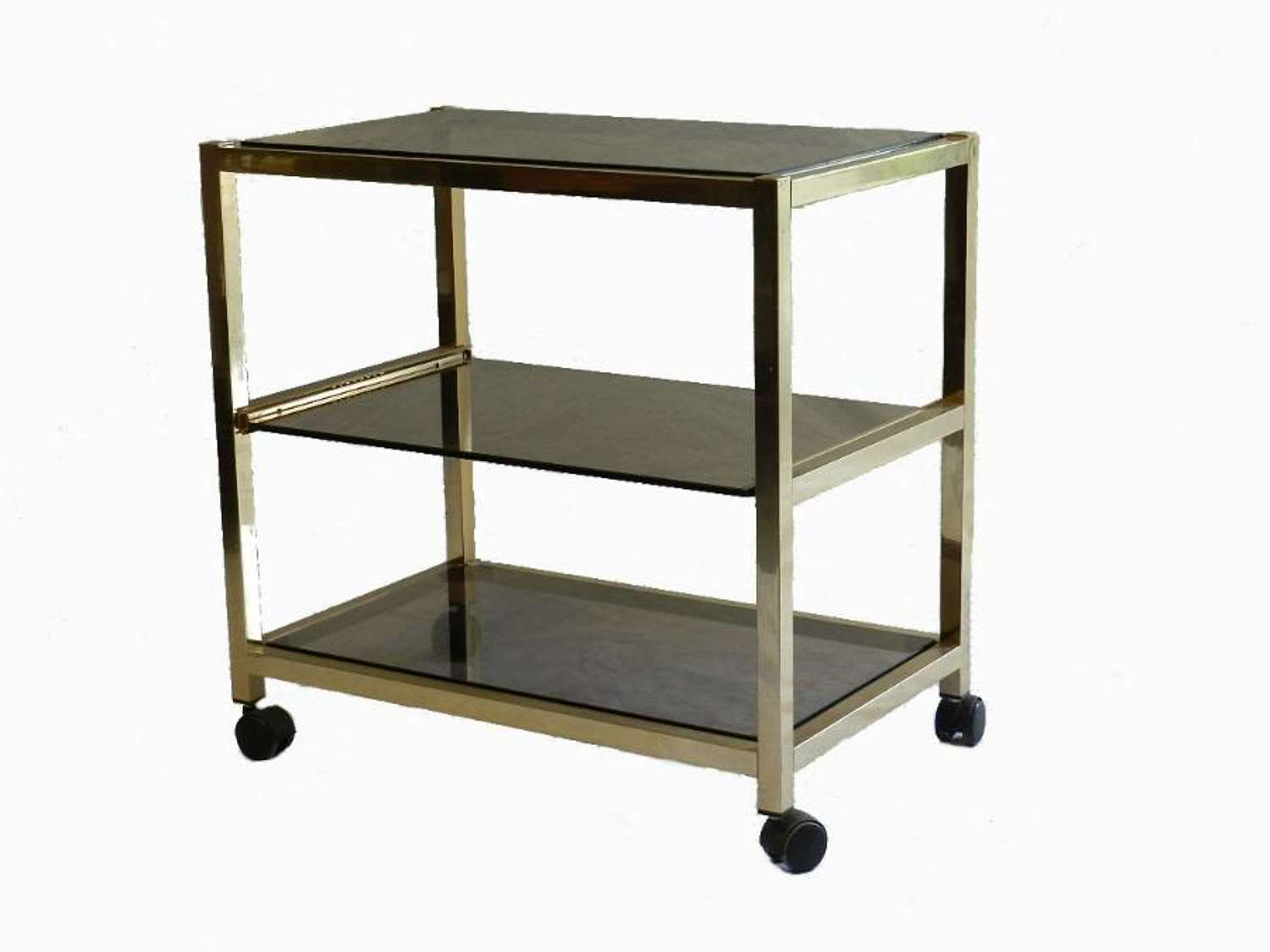 1970s Bar Cart Trolley 3 Tier Drinks Cocktails