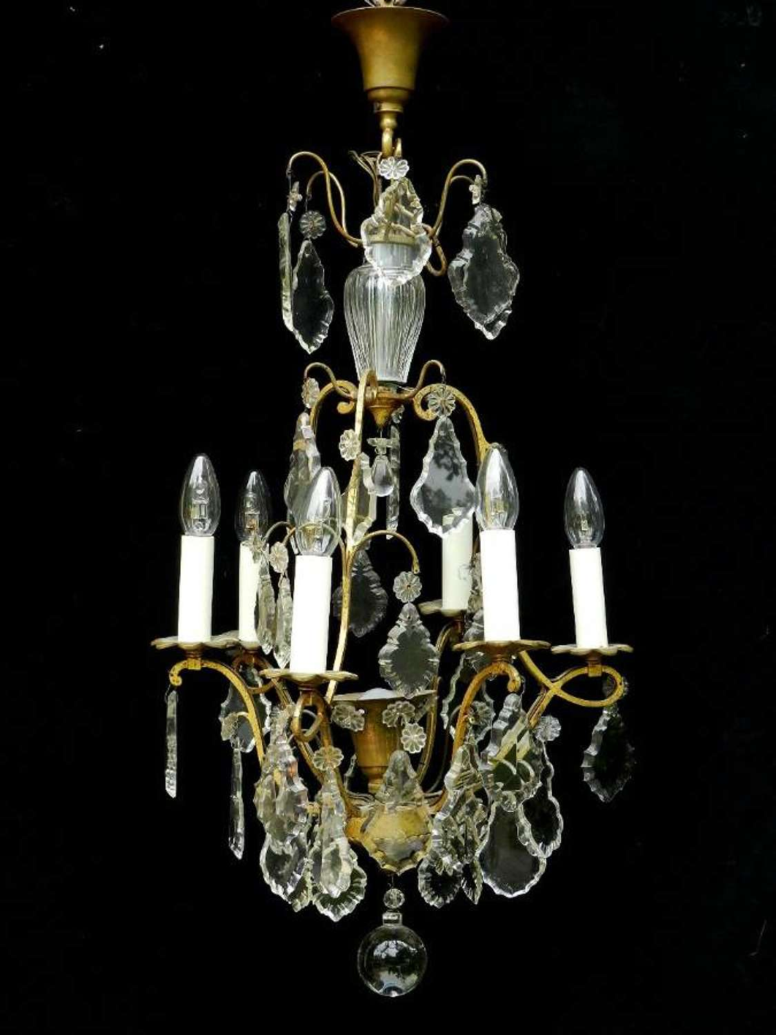 French Cage Chandelier c1920