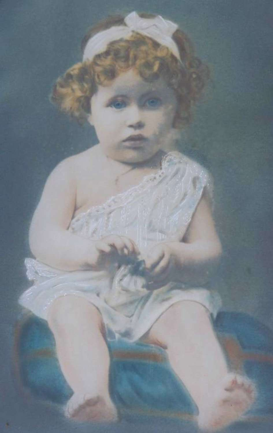 Old Photograph of Young Girl signed Legarcon 1921 Paris