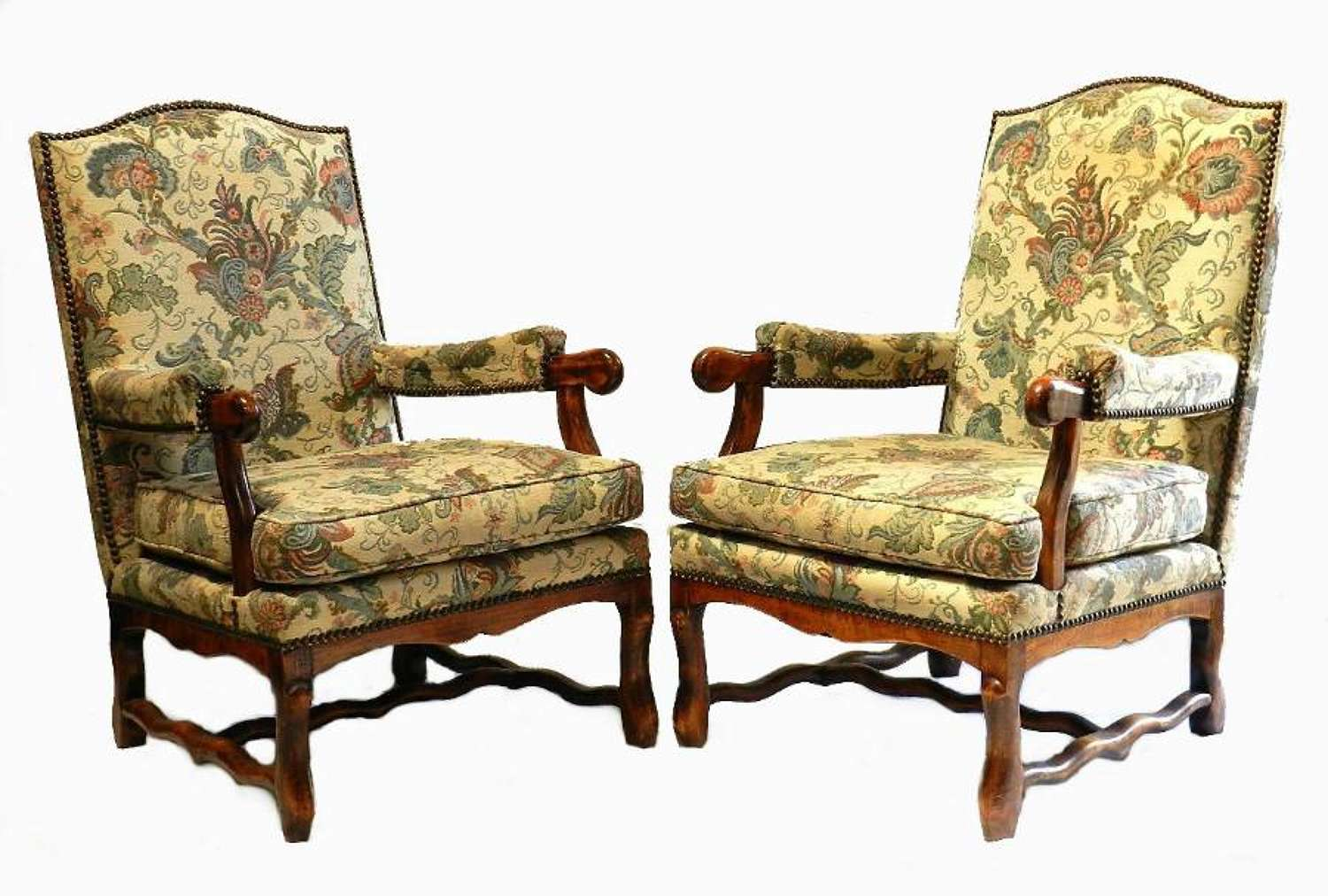 Pair of Broad Seat French Os de Mouton Armchairs can be recovered