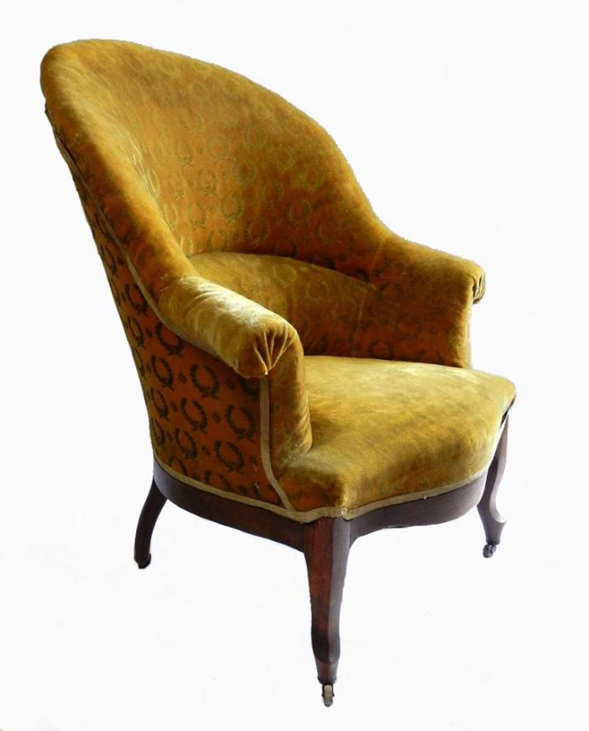 French Empire Louis Philipe Slipper Chair Armchair to recover