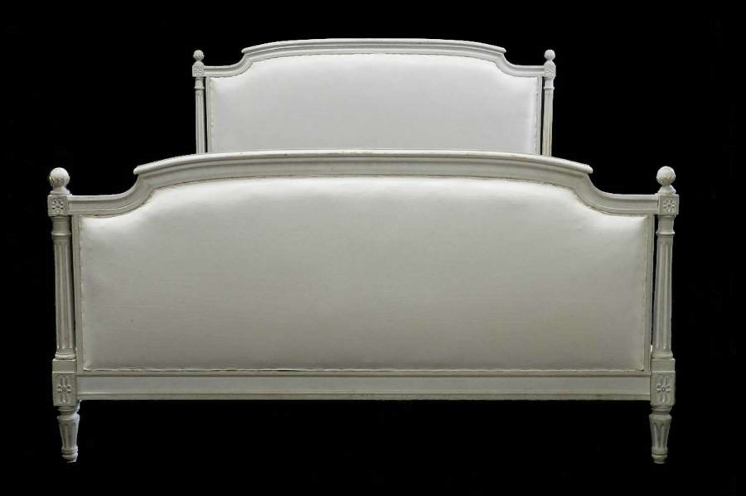 Early Vintage French Louis XVI Double Kingsize Bed to calico top covers of choice