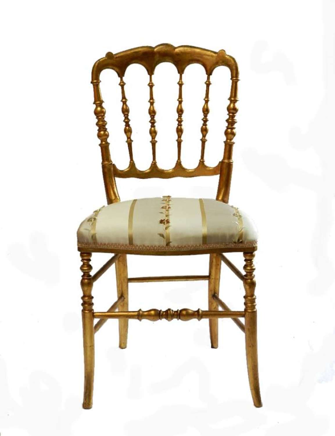 Early Original Italian Chiavari Chair turned wood Gold Side Chair Bedroom Accent