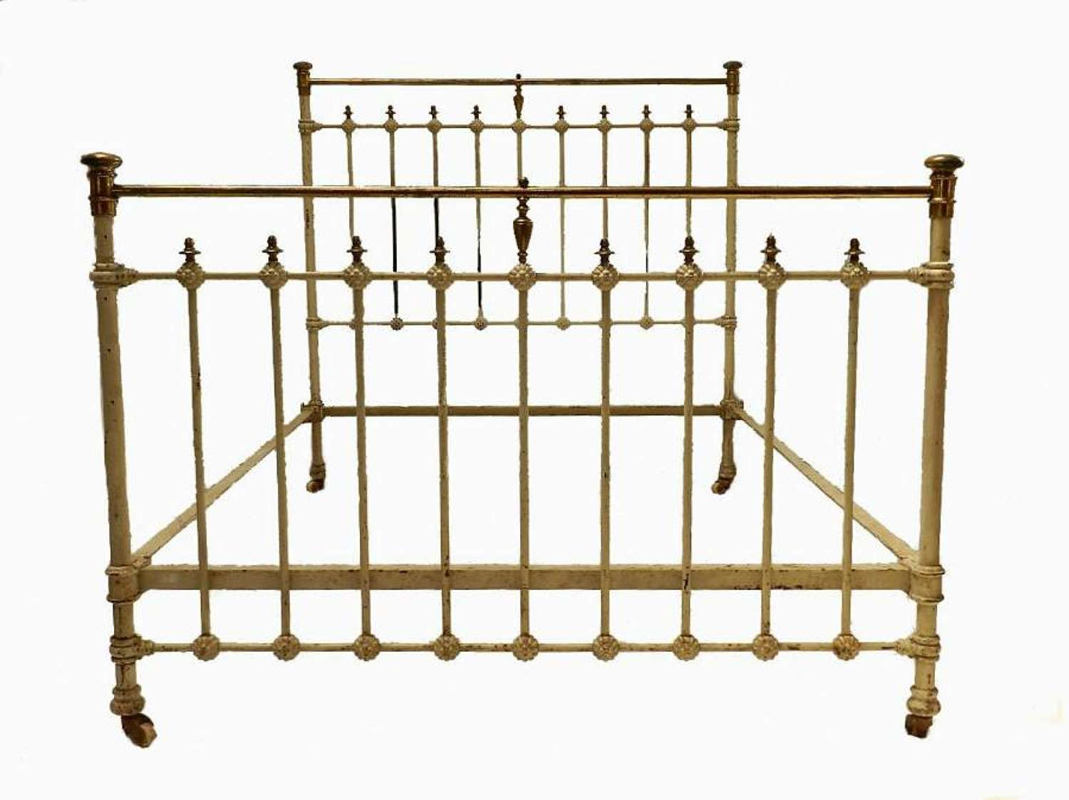 C19 French Brass and Iron Double Bed finished to your specifications + Base