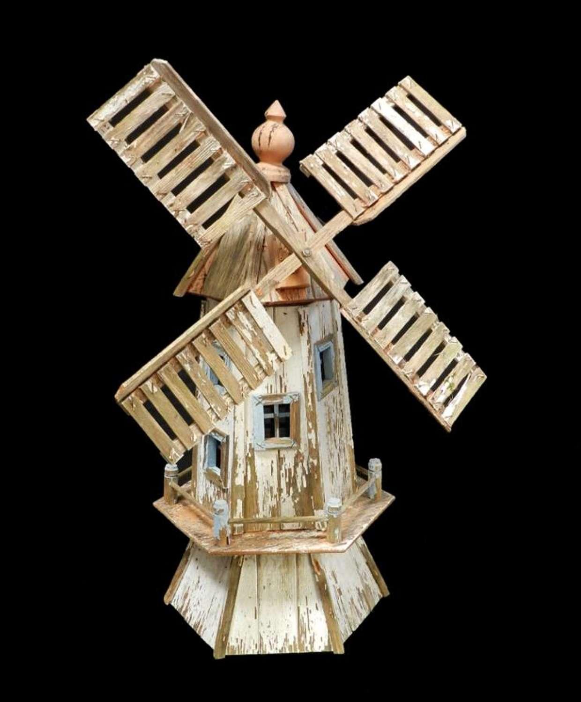 Folk Art Windmill Vintage Garden Ornament original paint gloriously weathered