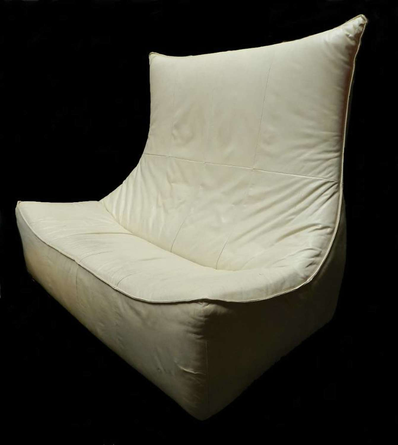 The Rock Gerard Van Den Berg for Montis Leather Sofa 1970s Matching Single Lounge Chair also available