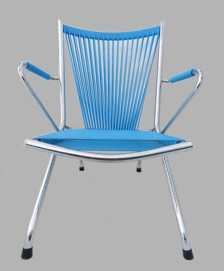 Childs Folding Chair Chrome and Plastic Halyard c1970