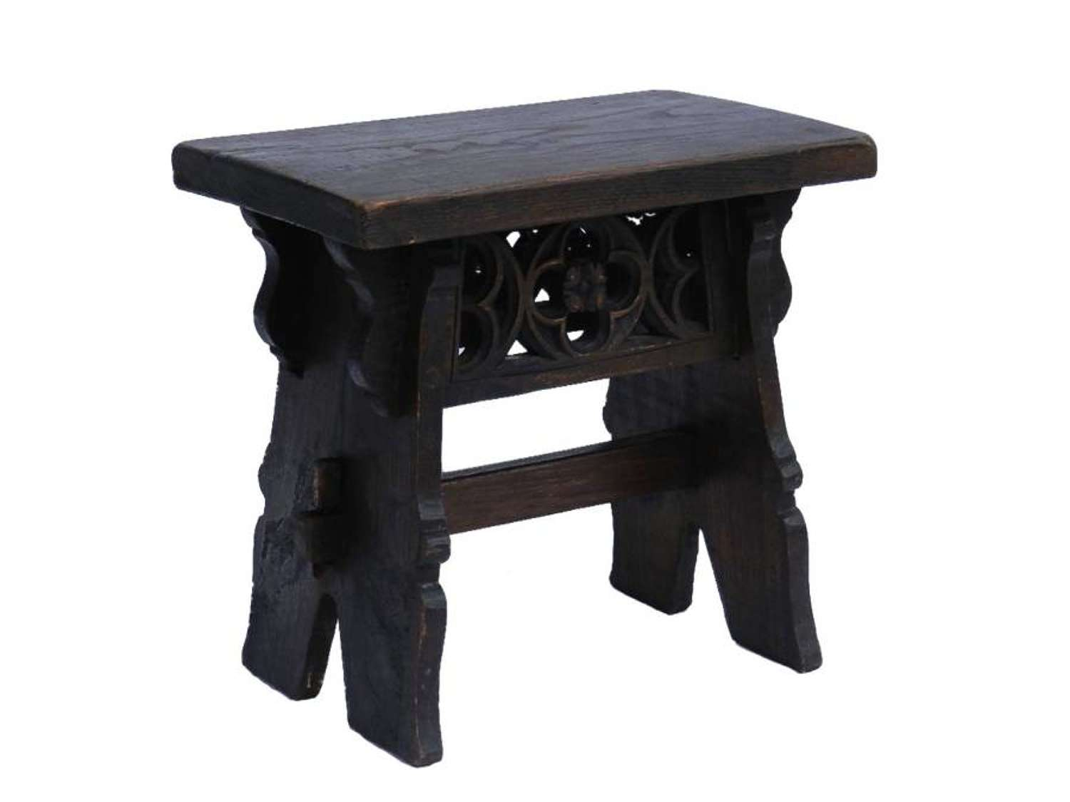 Provincial French Oak Gothic revival Stool