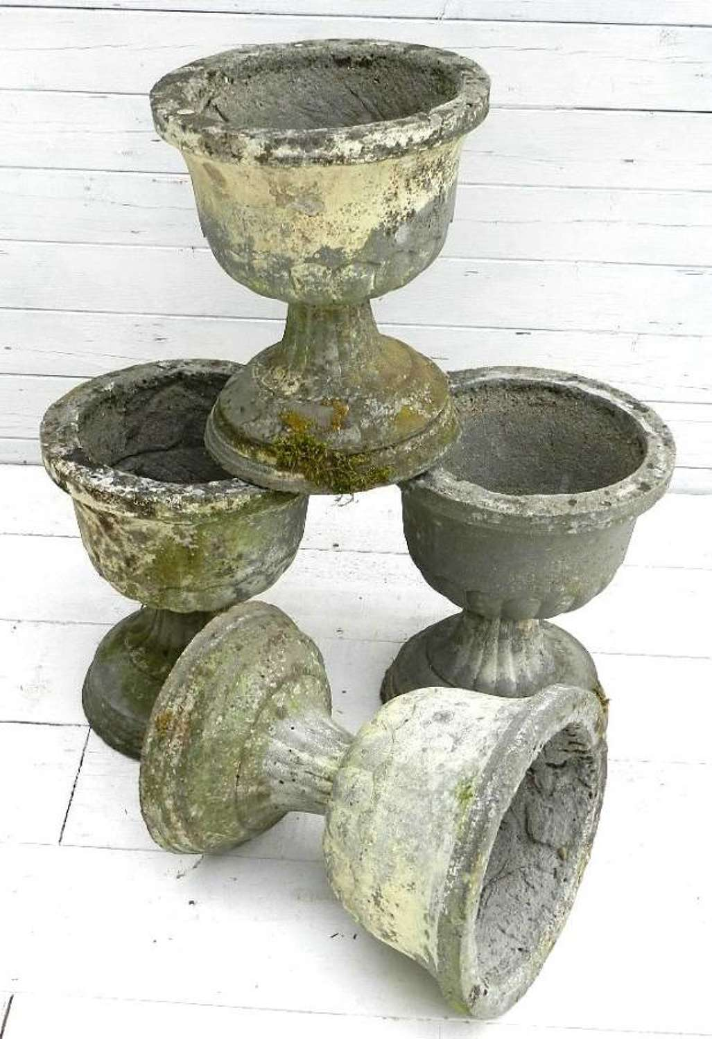 Set of 4 French Garden Urns Planters Pots or as 2 pairs