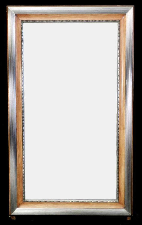 Original Bevelled French Art Deco Mirror Overmantle Overmantel
