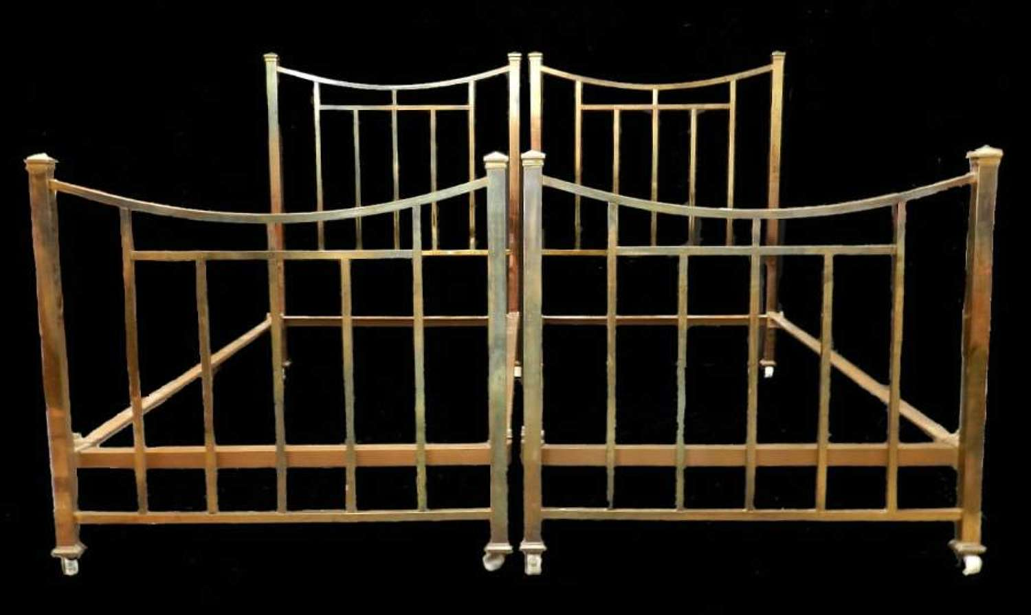 Pair of French Brass Beds Twin Singles