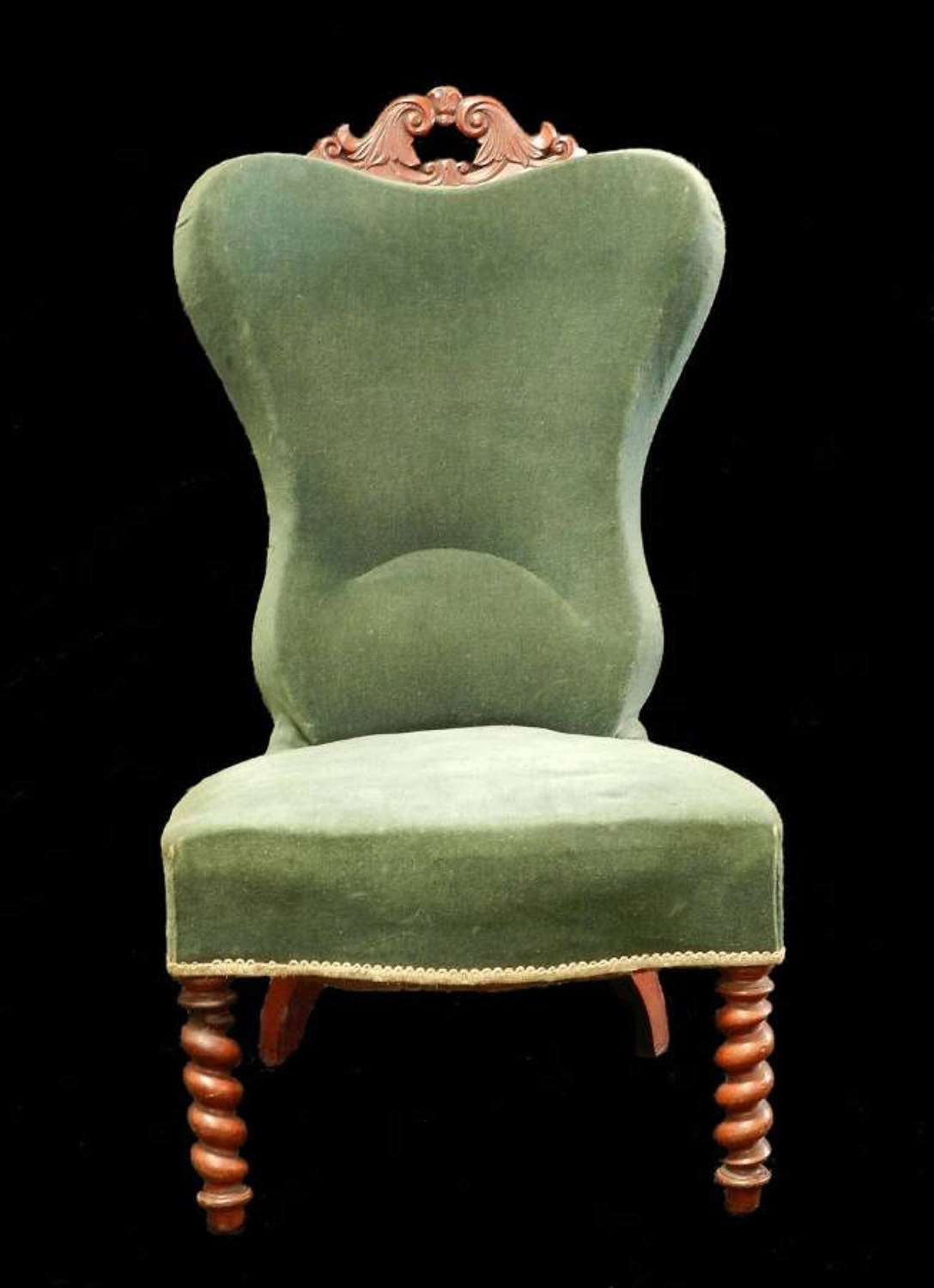 Unusual early C19 French Chair Occasional Boudoir Nursing
