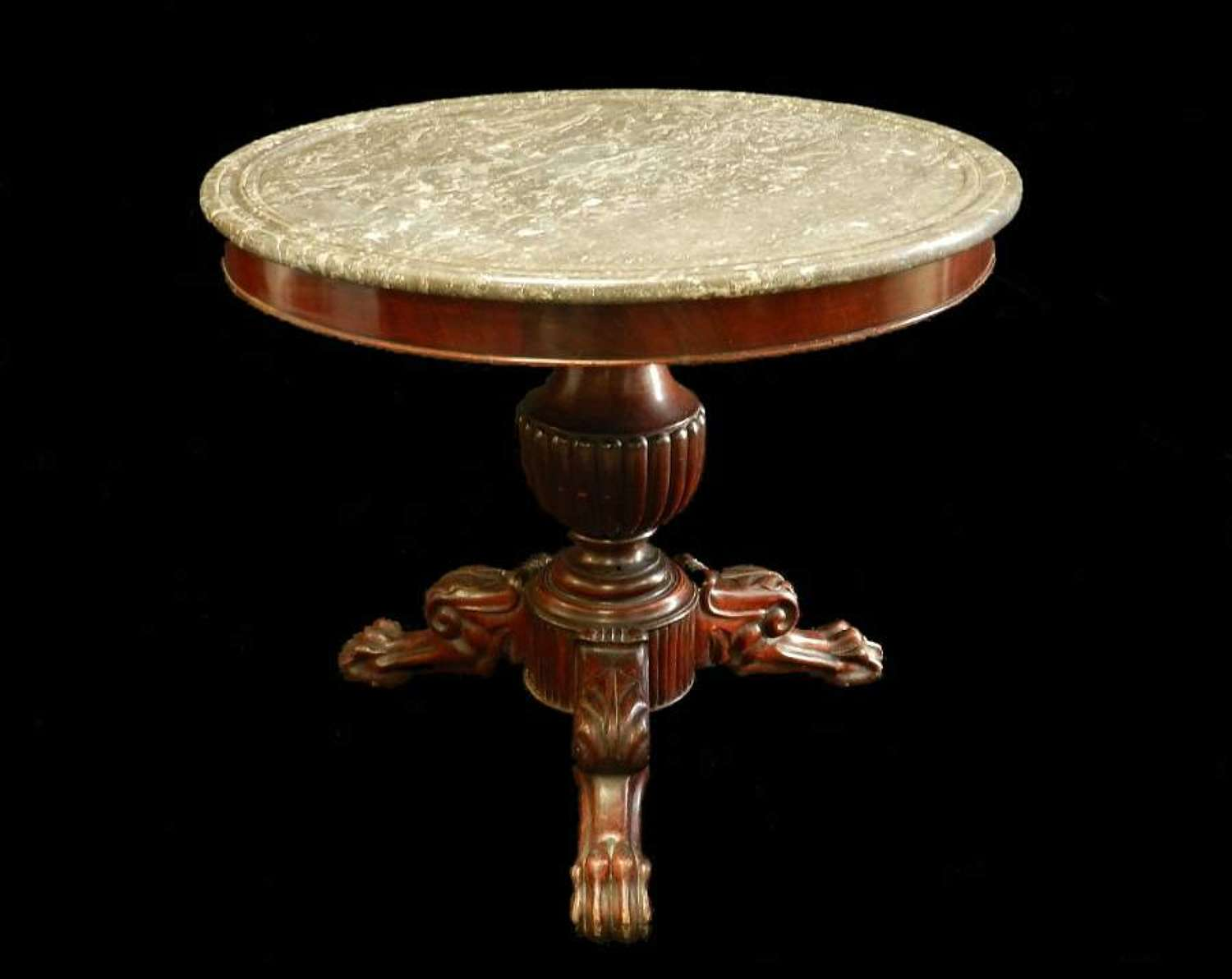 French Marble Top Gueridon Table Charles X
