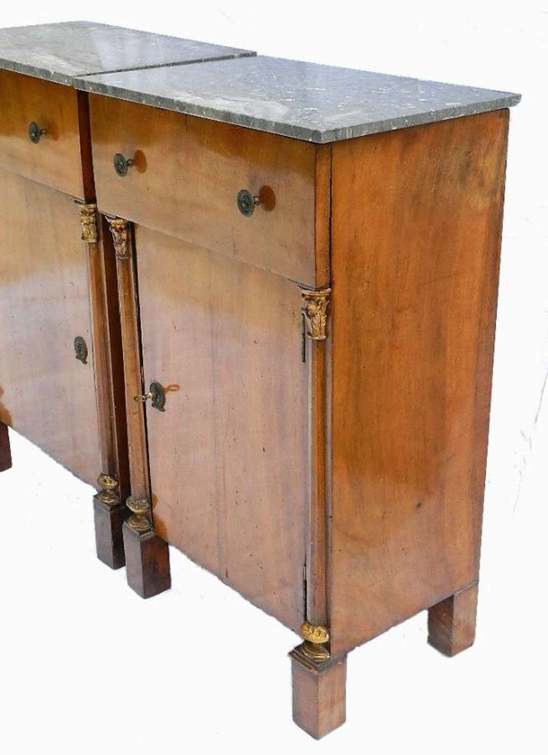 Pair of Second Empire French Side Cabinets Bedside Tables Cupboard Nightstands