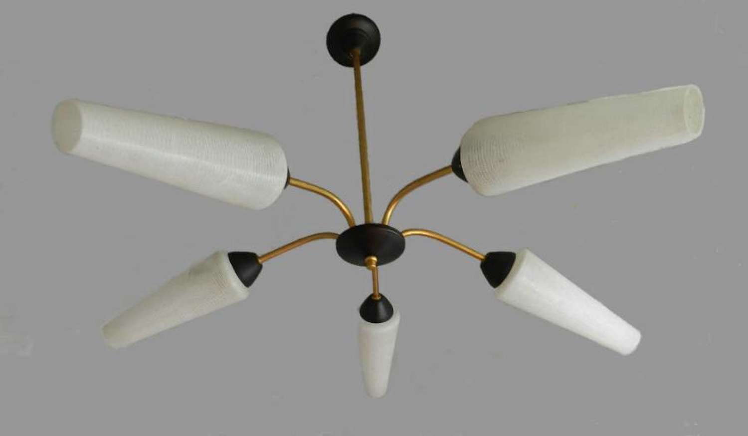Mid Century 1950s French/ Italian Vintage Chandelier Ceiling Light
