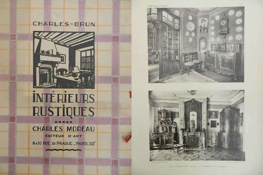 Moreau Brun 1920 - 1930 French Interior Design Folio Photographs from French Provincial Country Houses