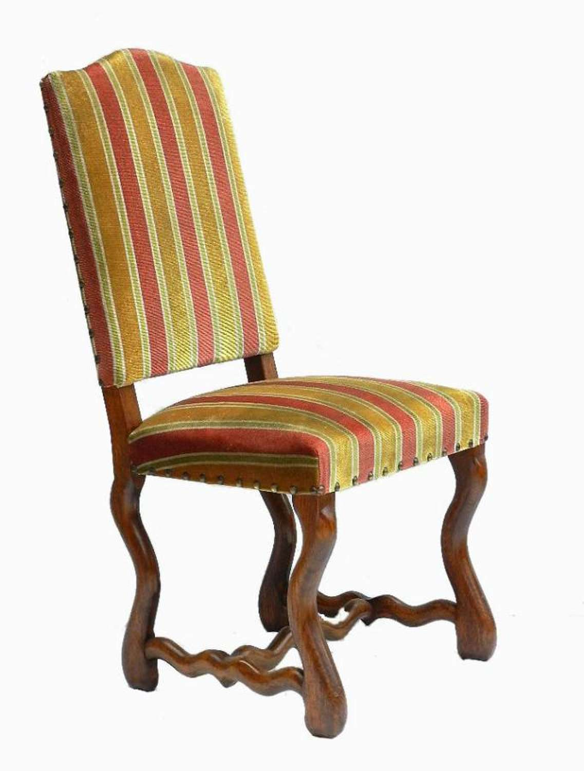 Set of 6 French Os de Mouton Dining Chairs
