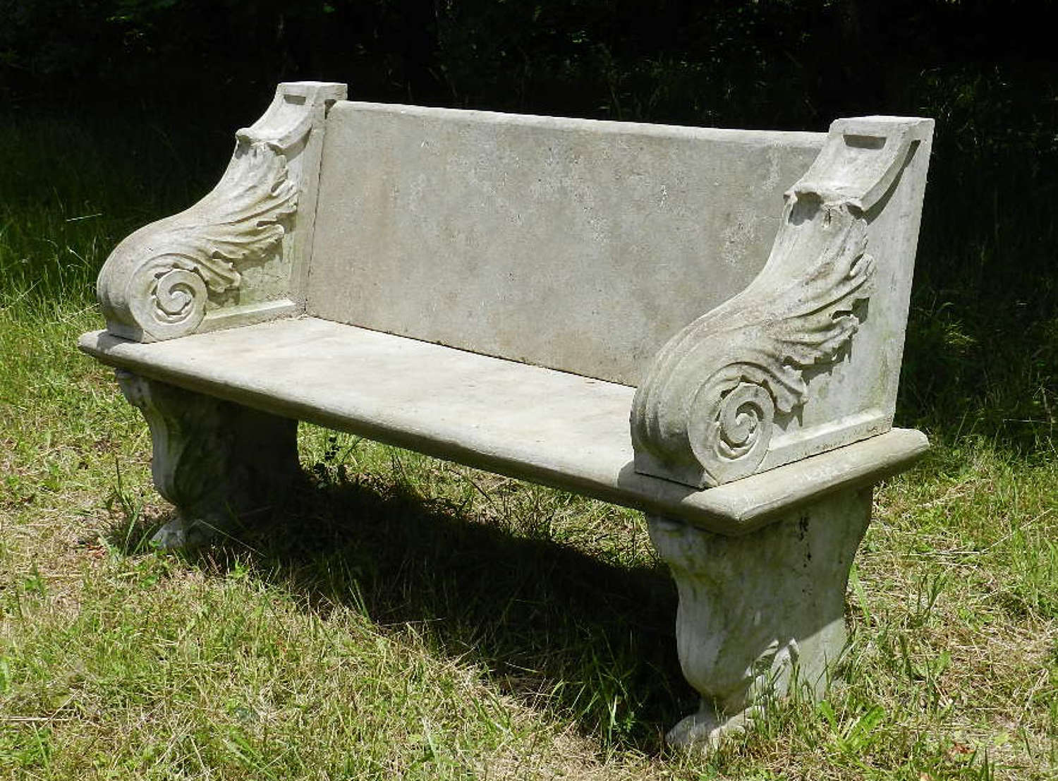 Good weathered Garden Bench Composition early C20
