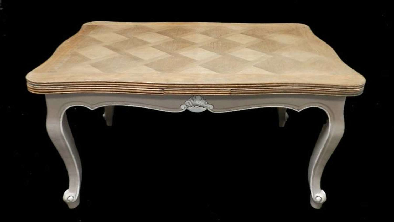 French Extending Dining Table Oak early vintage Louis Painted