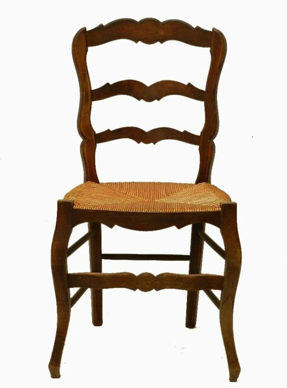 Set 6 Provincial French Louis Dining Chairs Rush Ladder Back early vintage