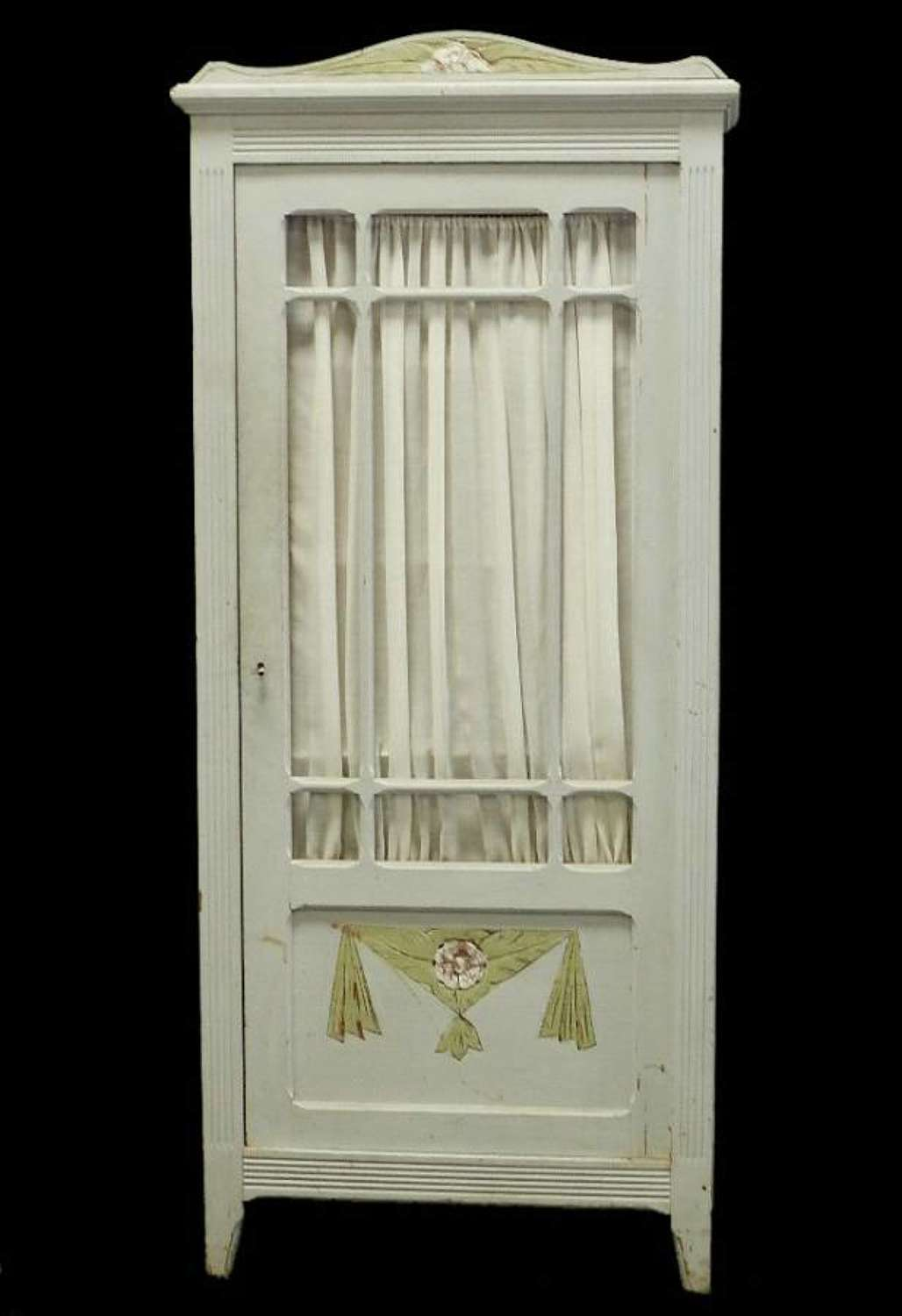 French Pine Cupboard Painted c1930