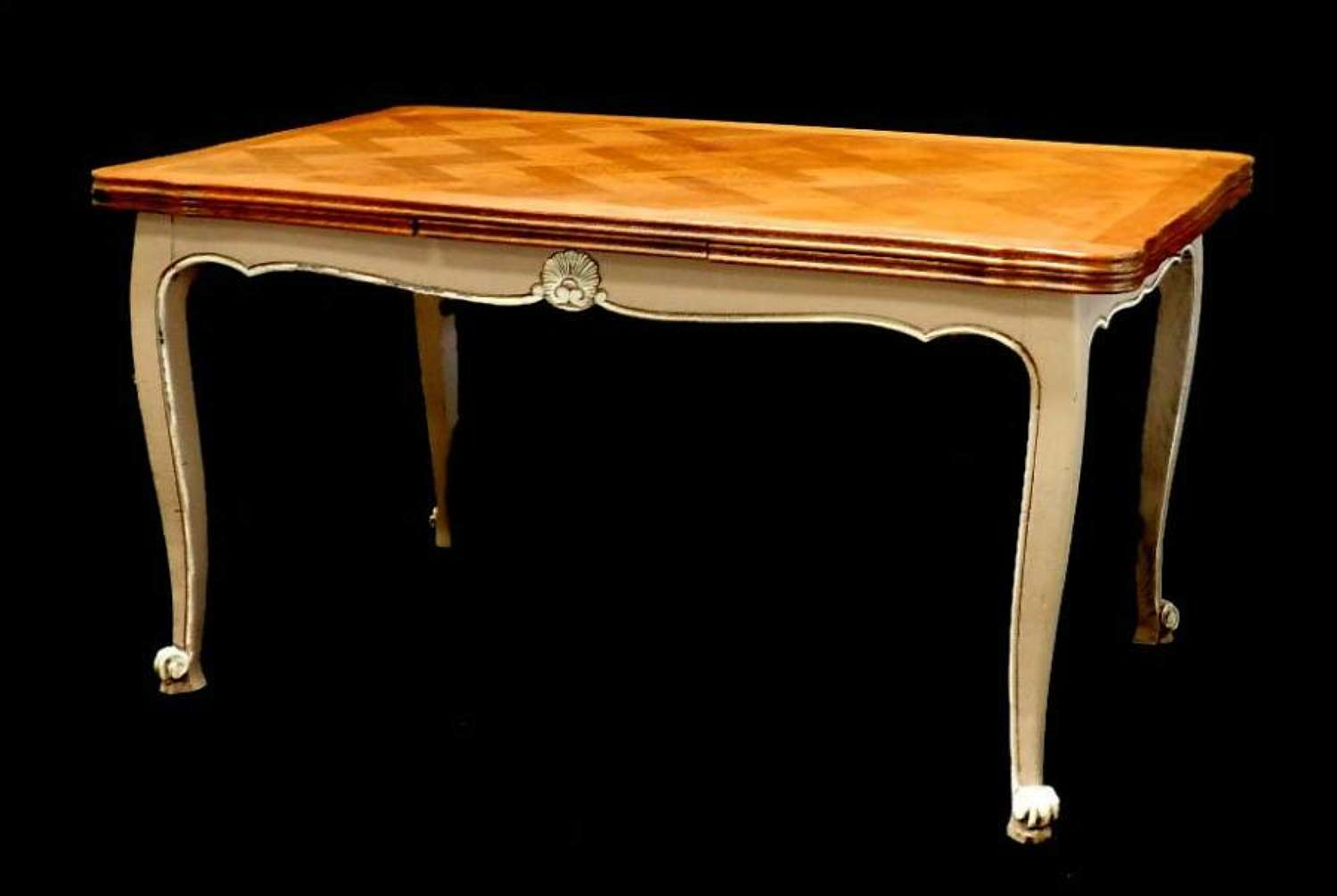 French Extending Dining Table Louis revival Painted