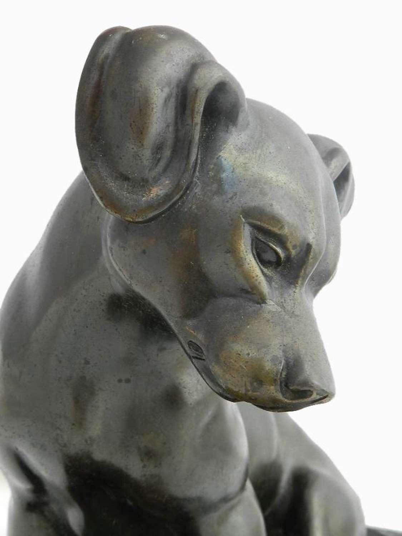 French Art Deco Bronze Dog