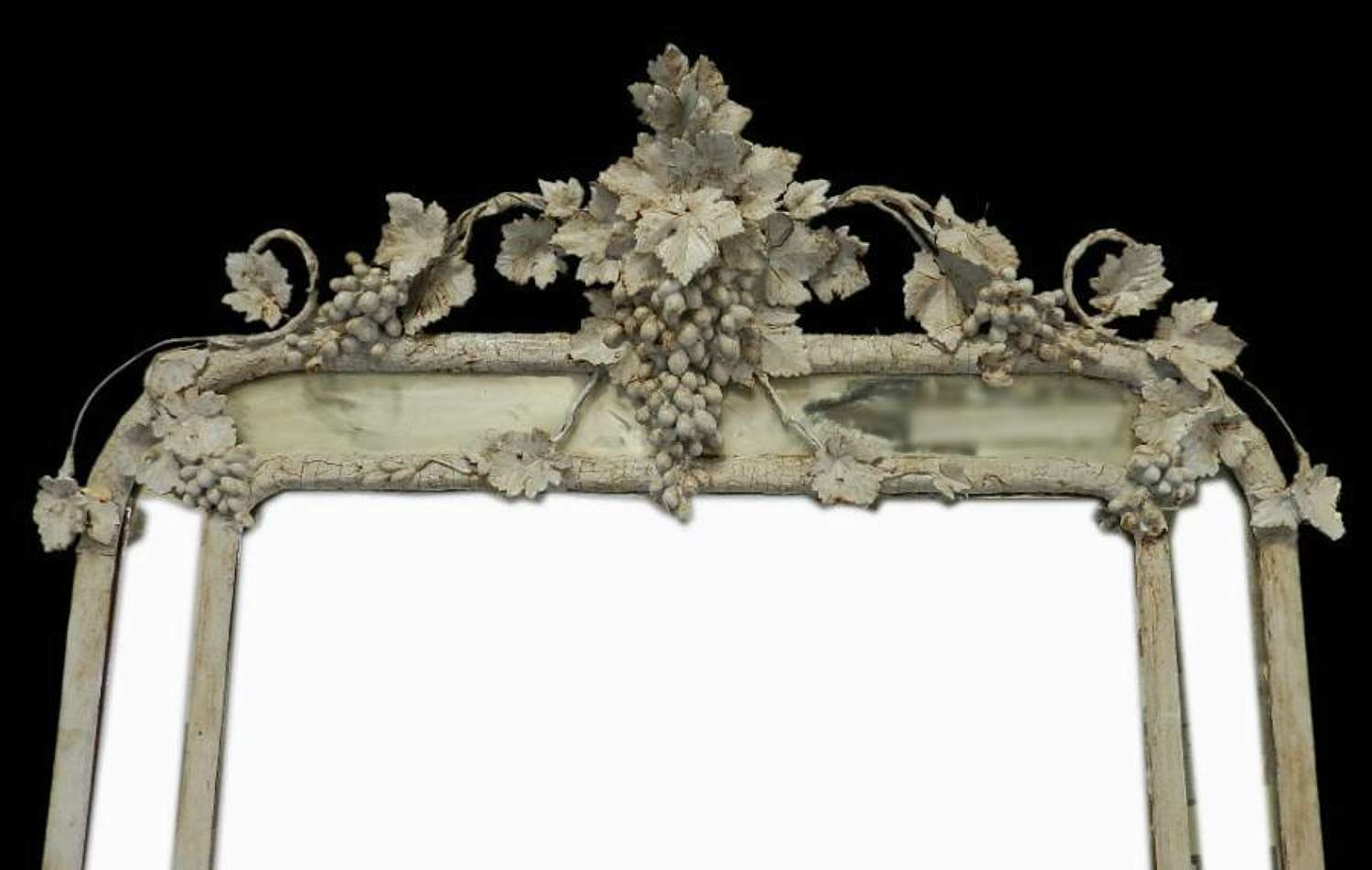 Huge Gloriously Distressed C19 Antique French Parcloses Mirror