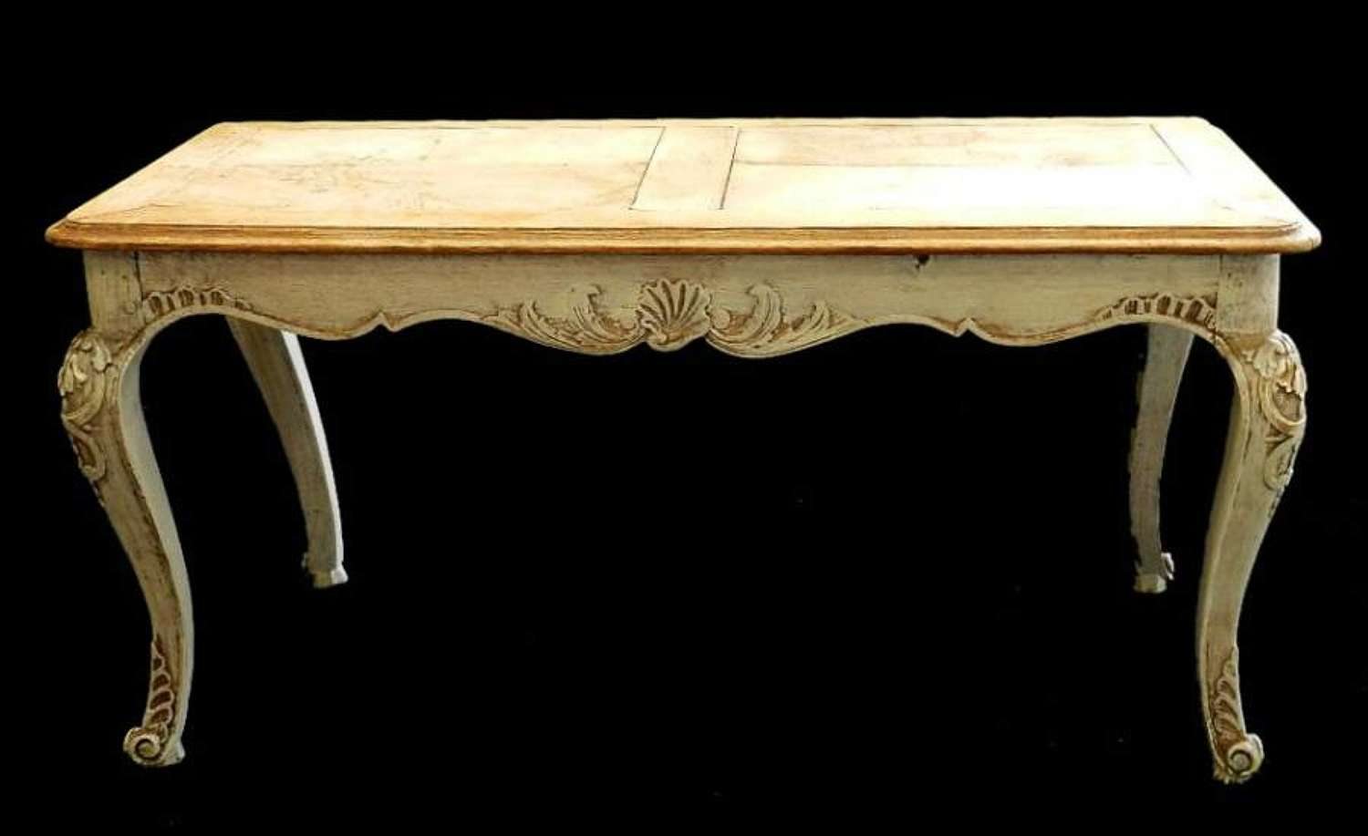 French Bleached Oak Louis rev Coffee Table early C20