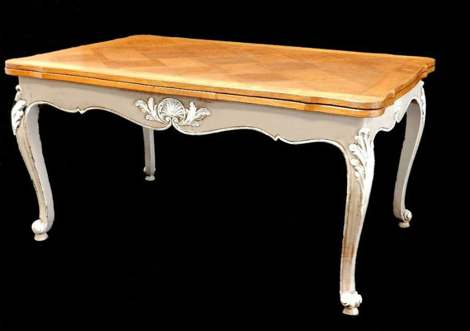 French Louis revival Extending Dining Table Painted