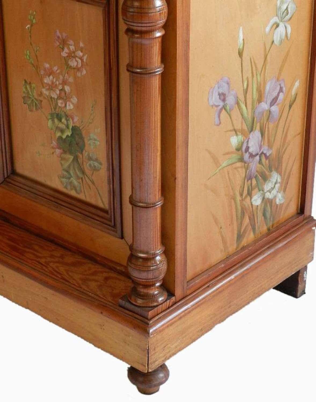 Art Nouveau Dressing Chest two door Cupboard original paint