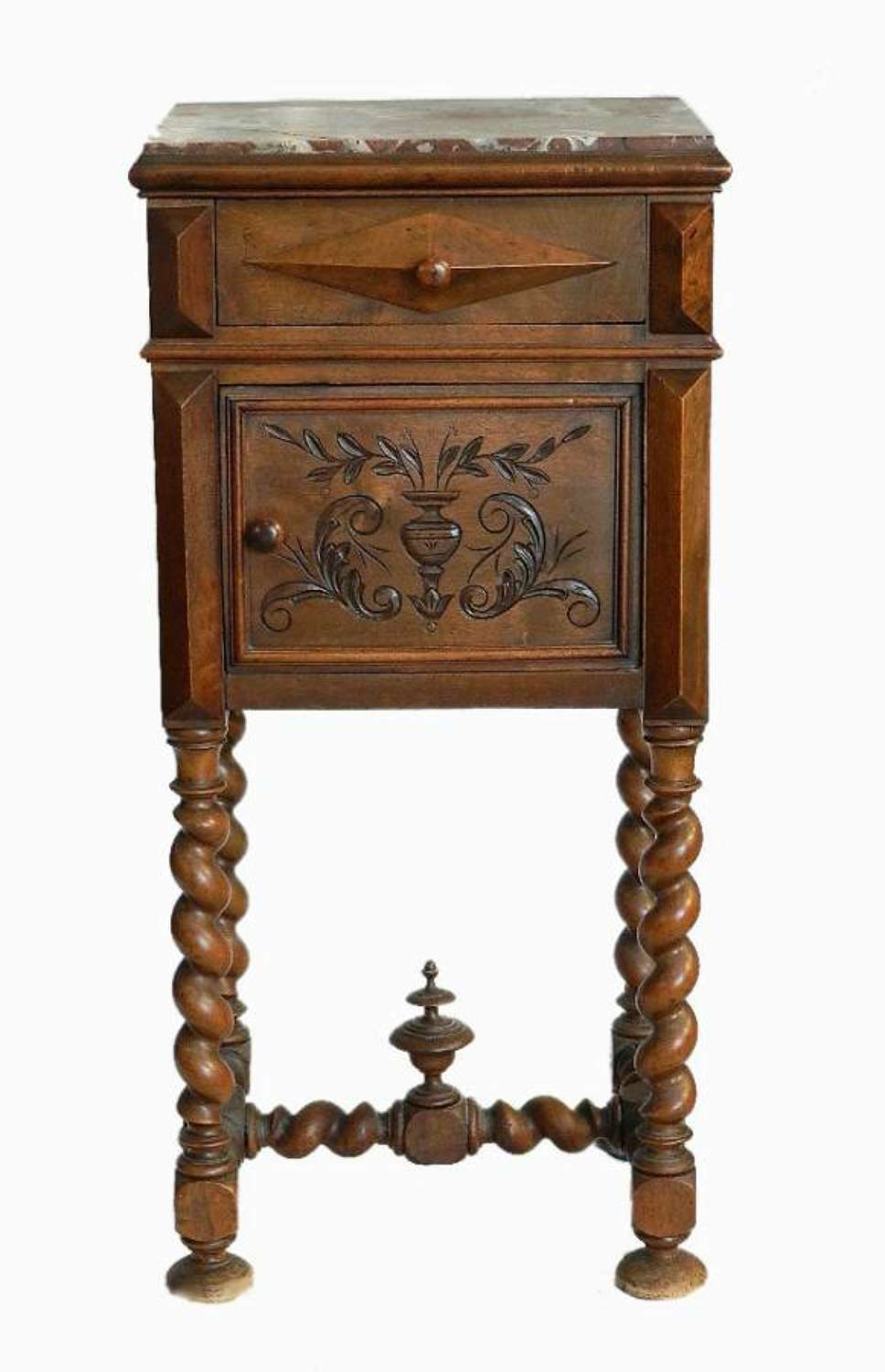 C19 French Bedside Table Nightstand Louis XIII rev
