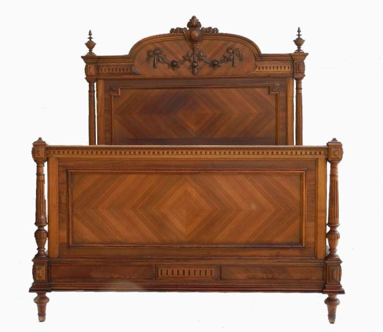 C19 Louis XVI rev French Double King Bed & Base