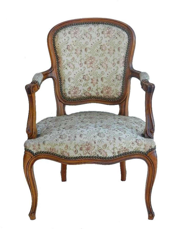 French Vintage Louis Fauteuil Armchair
