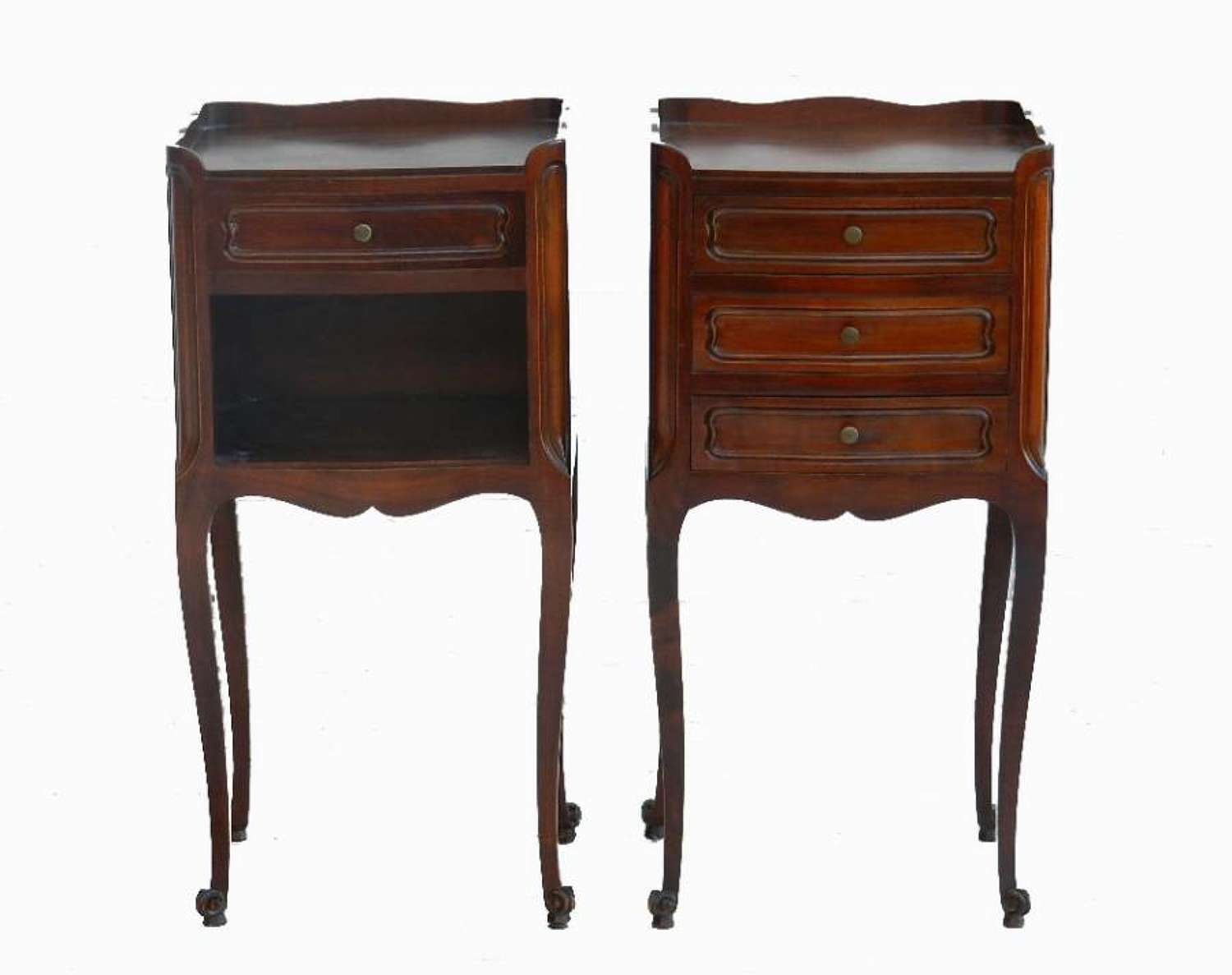 Pair of French Louis revival Bedside Tables Cabinets Nightstands