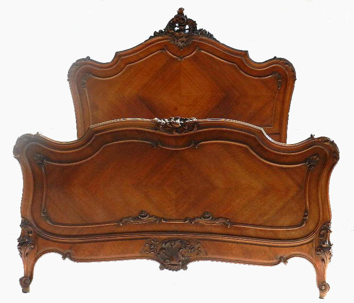 French C19 Louis King Size Bed 5ft Mahogany