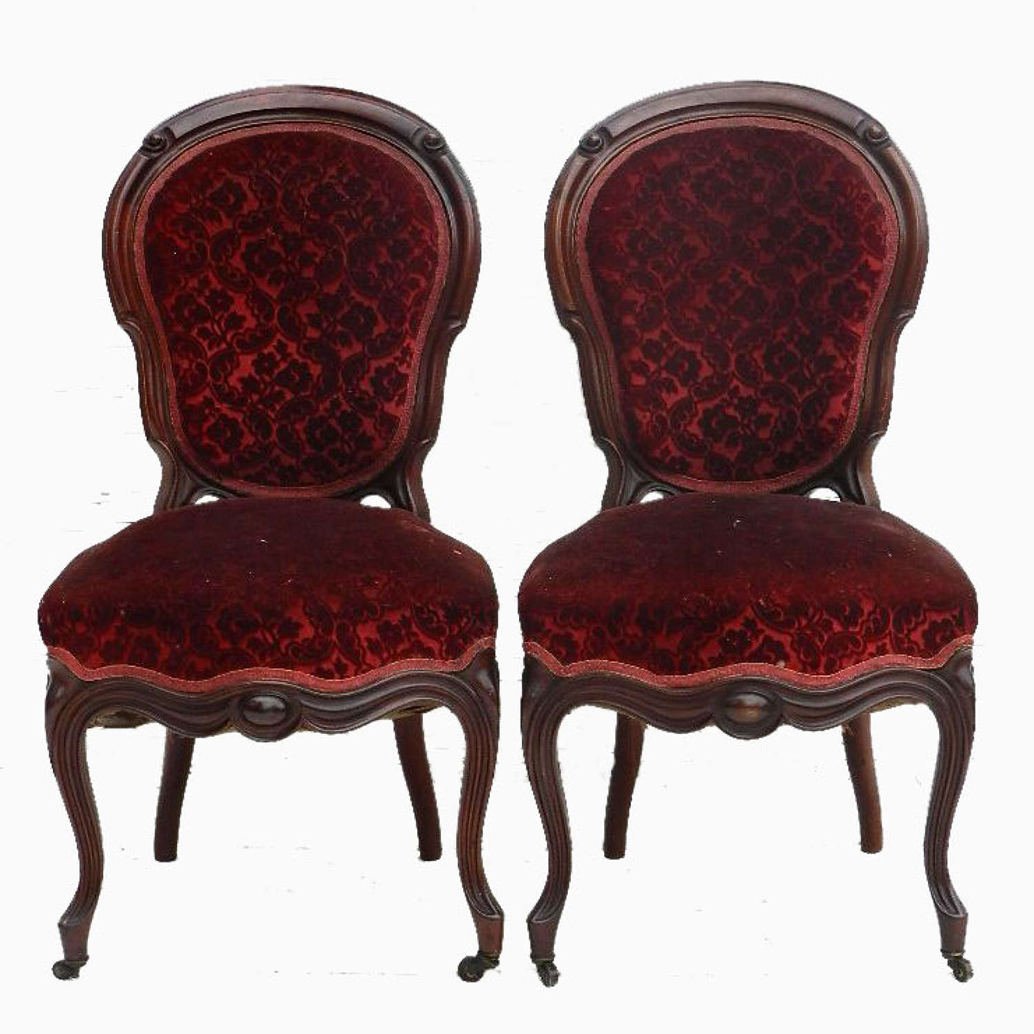Pair of French C19 Mahogany Side Chairs Louis Philippe Napoleon