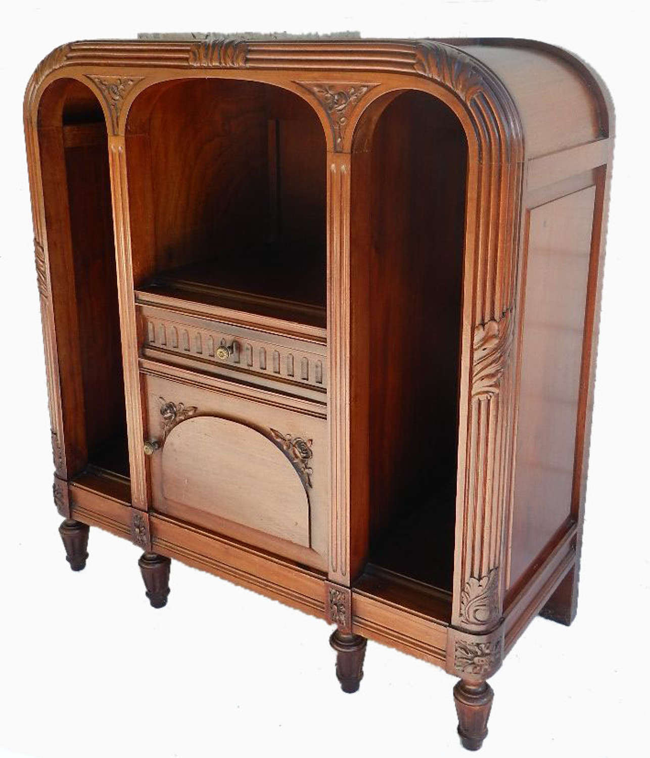 French Art Deco c1920 Side Cabinet Bedside Table Cupboard Nightstand Louis XVI revival
