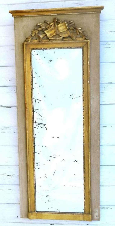 French Louis Trumeau Mirror  Pier Glass