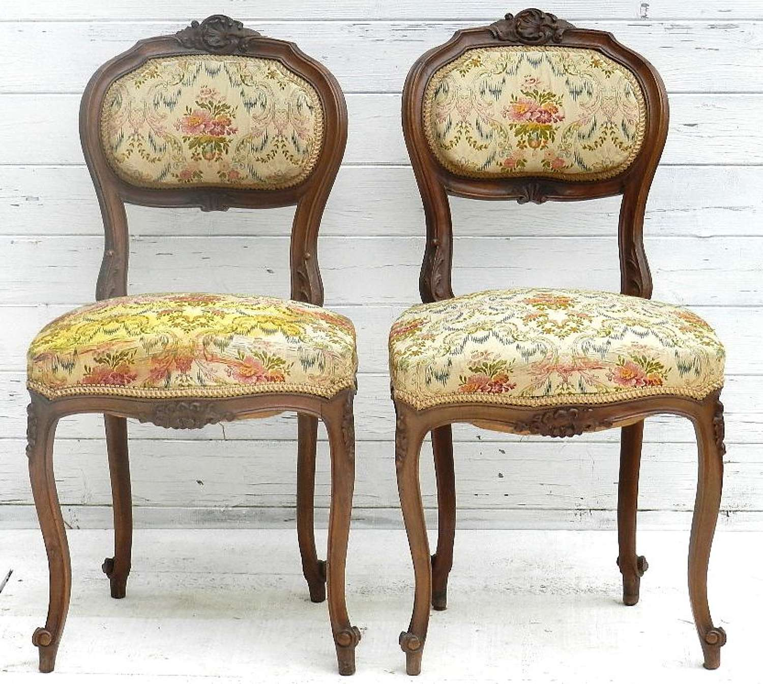 Pair of French C19 Louis Side Chairs