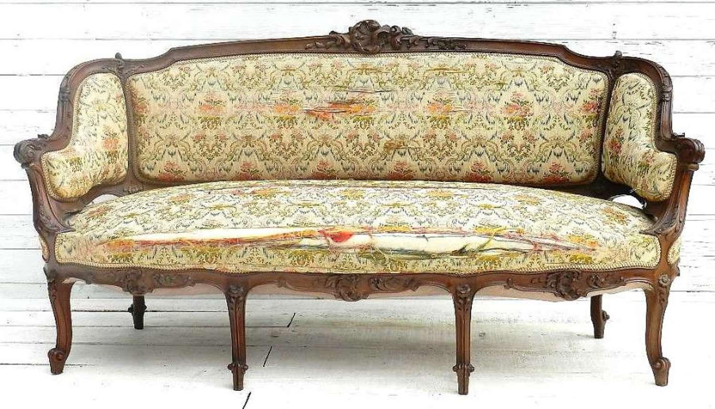 French C19 Louis XV Antique Sofa Settee