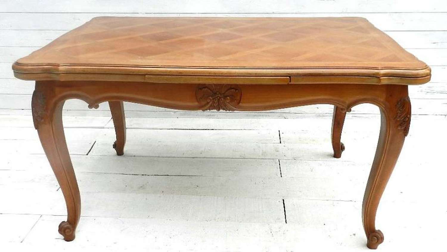 FRENCH VINTAGE EXTENDING LOUIS DINING TABLE CHERRY