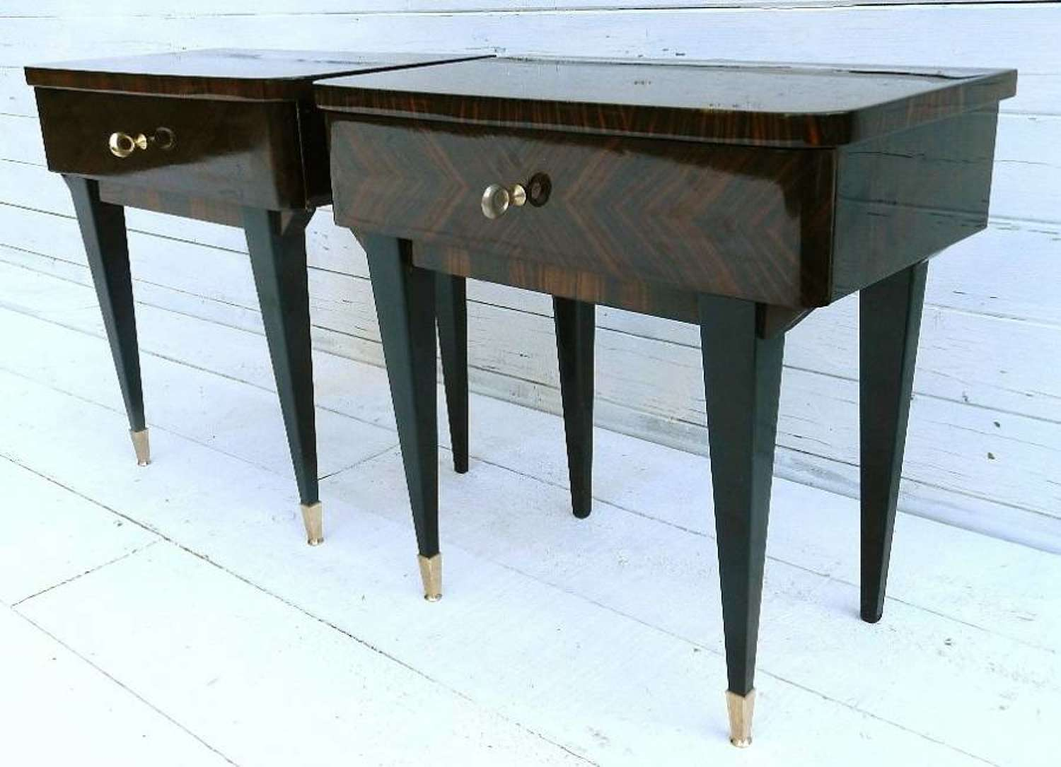 PAIR of FRENCH BEDSIDE TABLES MID CENTURY c1960-70s