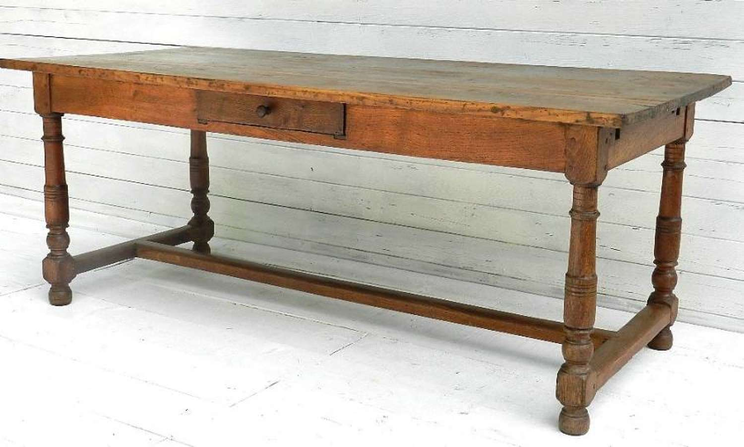 Late C18 FRENCH OAK PROVINCIAL DINING TABLE REFECTORY FARMHOUSE KITCHEN