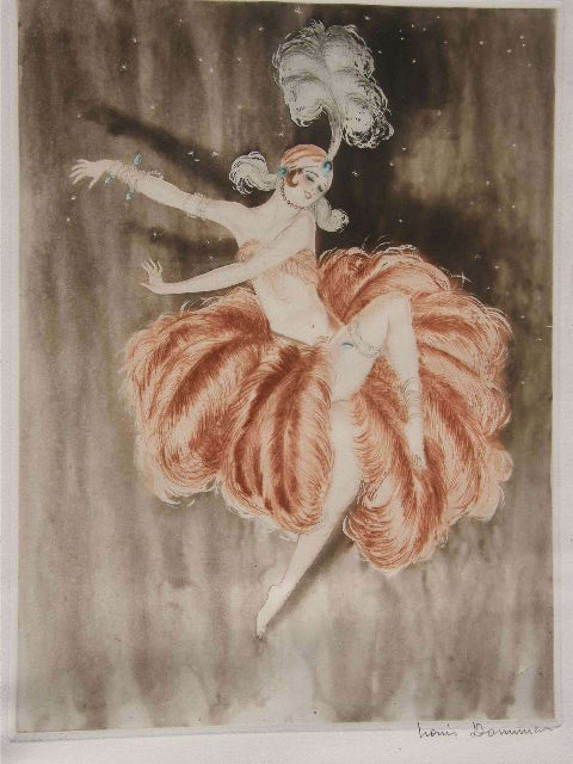 ORIGINAL FRENCH SIGNED ETCHING EAU FORTE c1930 SCHOOL of ICART