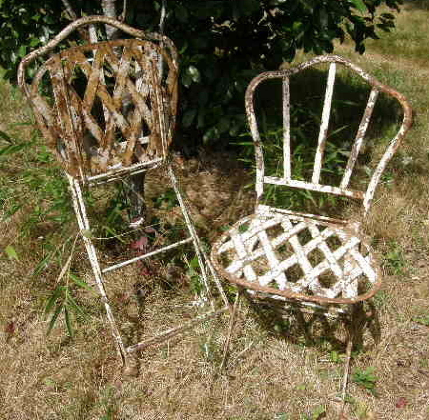 Pair of French Folding Garden Chairs