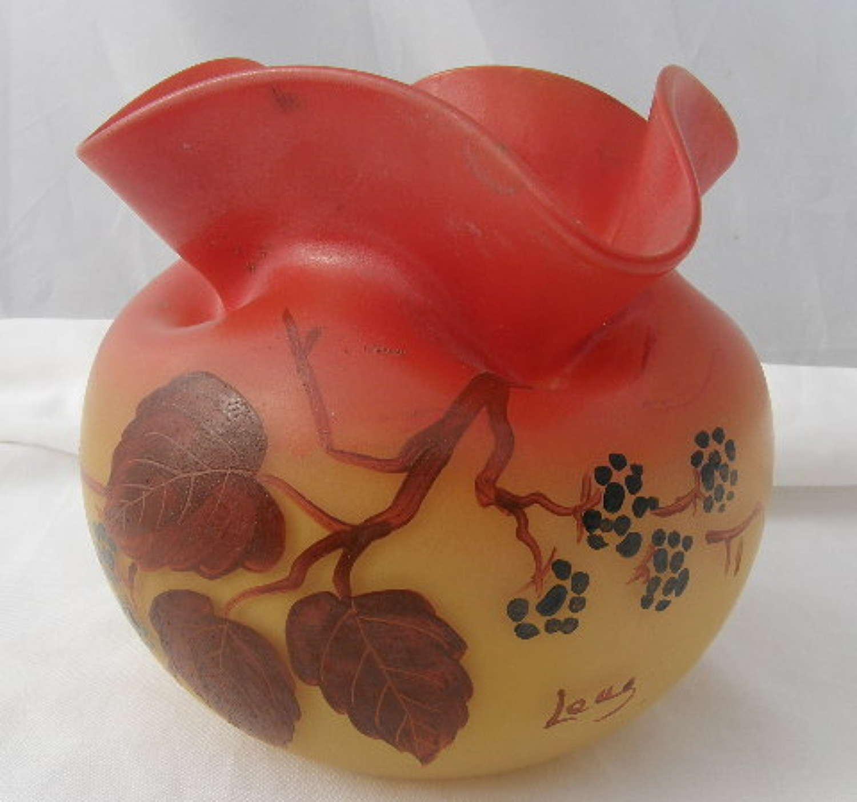 Legras Vase signed